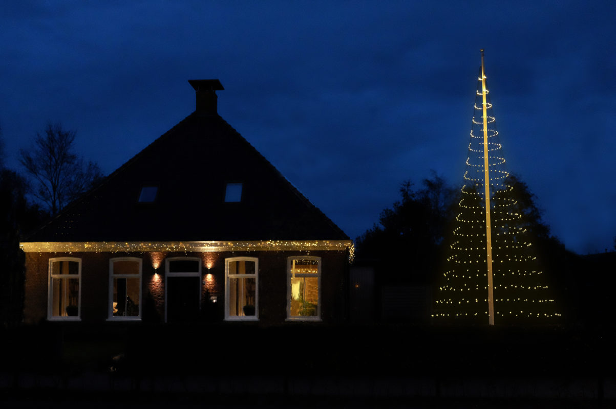 Vlaggenmast Kerstverlichting 800 LED 3D Warmwit