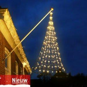 Vlaggenmast Kerstverlichting 192 LED 3D warmwit gevelmodel – NIEUW