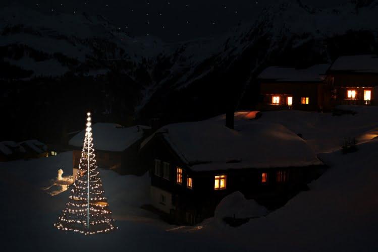 Montejaur Vlaggenmast Kerstverlichting 1000 LED 3D Warmwit