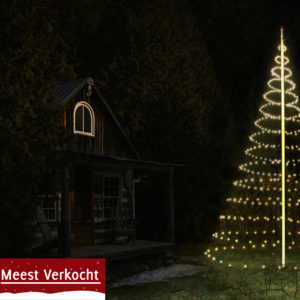 Vlaggenmast Kerstverlichting 600 LED 3D Warmwit