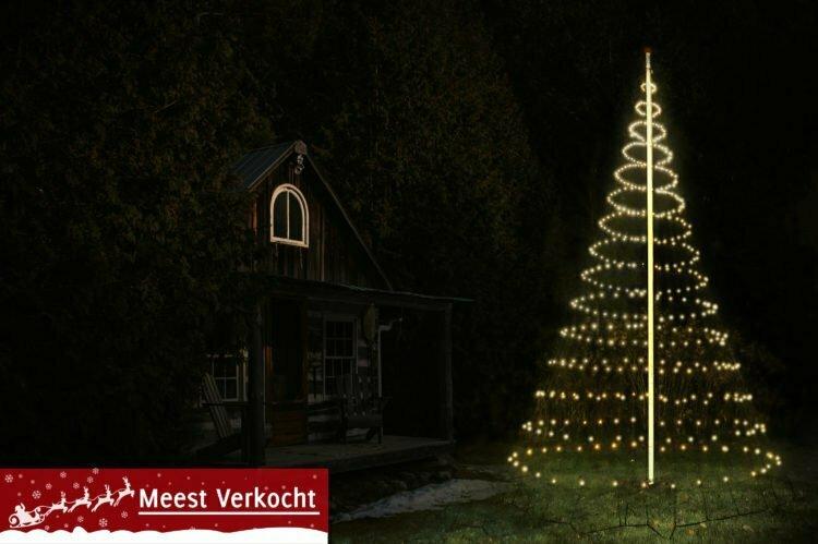 Vlaggenmast Kerstverlichting 600 LED 3D Warmwit