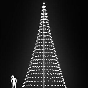 vlaggenmast kerstverlichting 10 meter