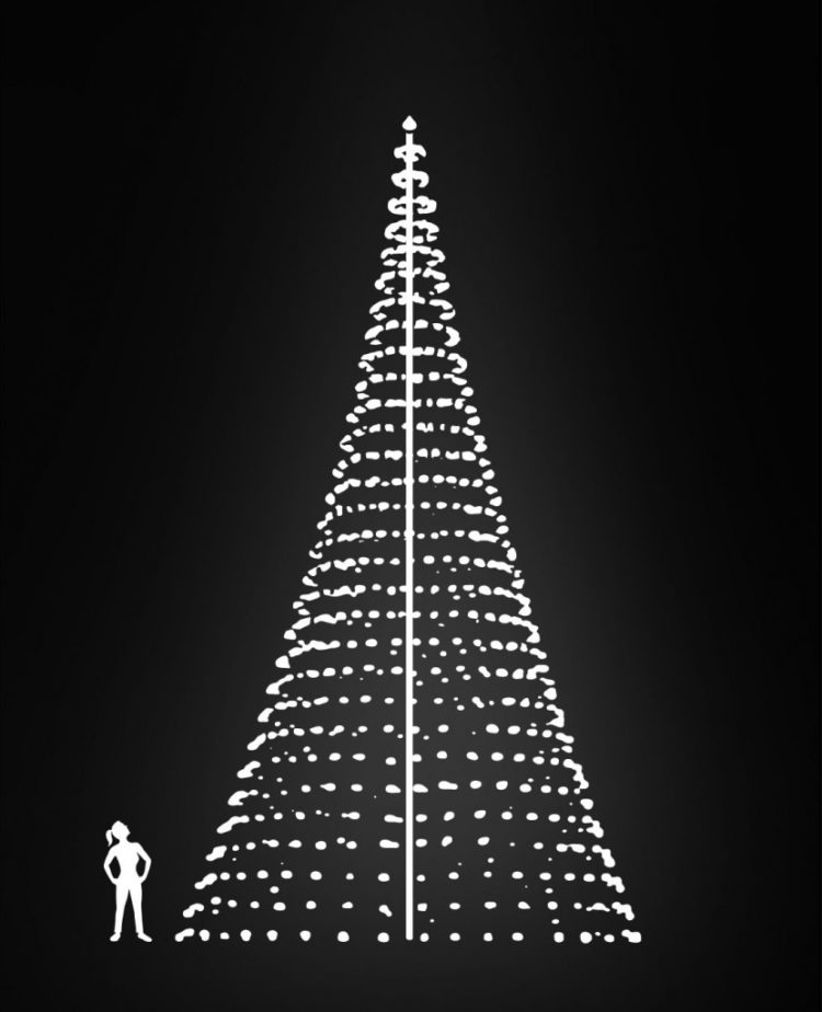 vlaggenmast kerstverlichting 12 meter