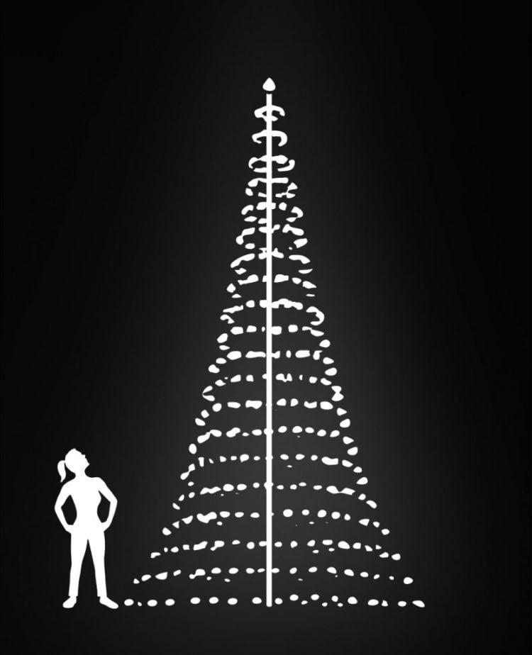 vlaggenmast kerstverlichting 6 meter