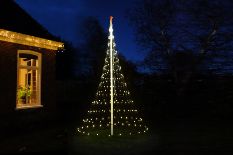 Vlaggenmast Kerstverlichting 400 LED 3D Warmwit