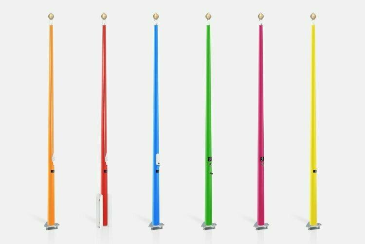 vlaggenmasten in RAL kleur